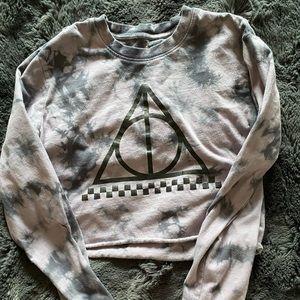✨HP✨Vans cropped long sleeve Harry Potter shirt